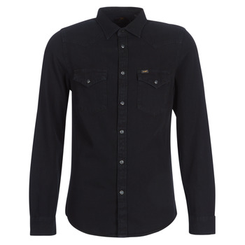material Men long-sleeved shirts Lee LEE WESTERN SHIRT Black
