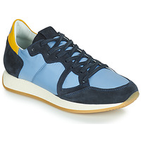 Shoes Women Low top trainers Philippe Model MONACO VINTAGE BASIC Blue / Yellow