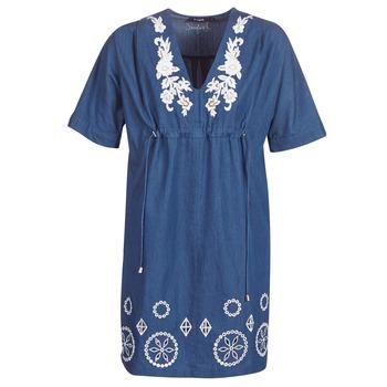 material Women Short Dresses Desigual ELECTRA Marine