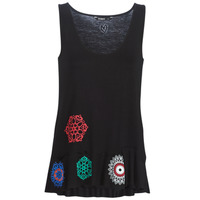material Women Tops / Sleeveless T-shirts Desigual MELISA Black