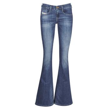 material Women bootcut jeans Diesel EBBEY Blue