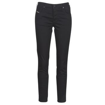 material Women slim jeans Diesel BABHILA Black