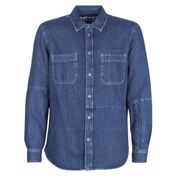 material Men long-sleeved shirts Diesel D FRED Blue