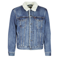 material Men Denim jackets Levi's TYPE 3 SHERPA TRUCKER Blue / Dark