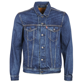 material Men Denim jackets Levi's THE TRUCKER JACKET Blue / Dark