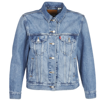 material Women Denim jackets Levi's EX-BOYFRIEND TRUCKER Blue / Medium