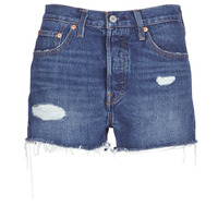 material Women Shorts / Bermudas Levi's 502 HIGH RISE SHORT Blue / Medium