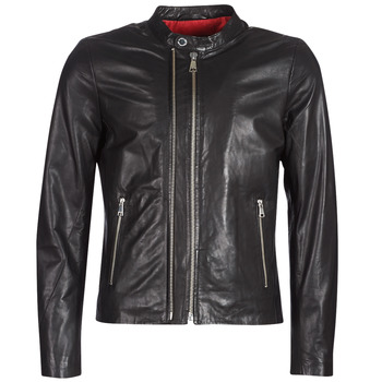 material Men Leather jackets / Imitation le Redskins KASE Black