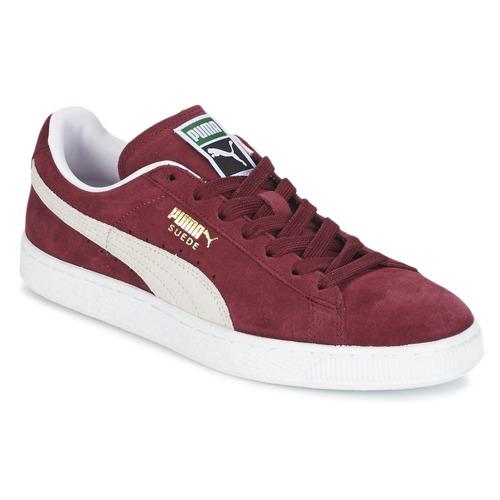 Shoes Low top trainers Puma SUEDE CLASSIC Bordeaux
