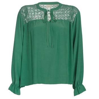material Women Blouses Cream MILANIE Green