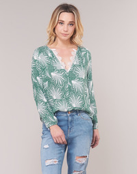 material Women Blouses See U Soon GARAGAVE Green / White