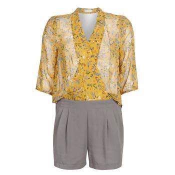 material Women Jumpsuits / Dungarees See U Soon GARAGALE Yellow / Kaki