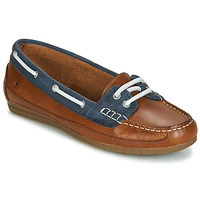 Shoes Women Boat shoes Casual Attitude JALAYIXE Cognac / Marine