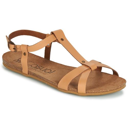 Shoes Women Sandals Casual Attitude JALIYAXE Camel