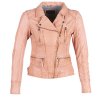 material Women Leather jackets / Imitation le Oakwood CAMERA Peach