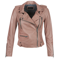 material Women Leather jackets / Imitation le Oakwood NIGHT Old / Pink