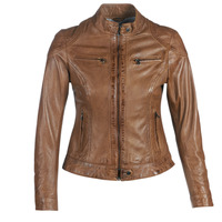 material Women Leather jackets / Imitation le Oakwood LINA Cognac