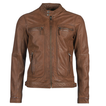 material Women Leather jackets / Imitation le Oakwood CASEY Cognac