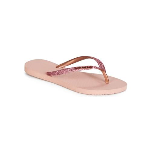 Shoes Women Flip flops Havaianas SLIM GLITTER Pink