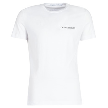 material Men short-sleeved t-shirts Calvin Klein Jeans CHEST INSTITUTIONAL SLIM SS TEE White