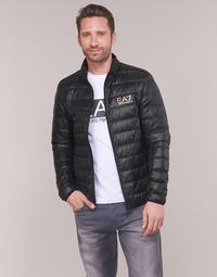 material Men Duffel coats Emporio Armani EA7 TRAIN CORE ID DOWN LT Black / Gold