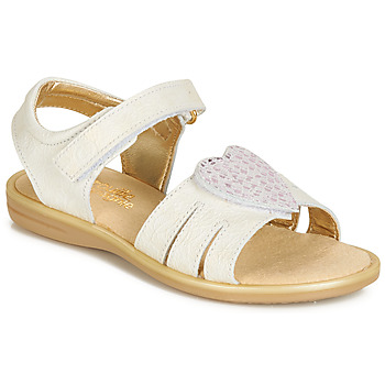 Shoes Girl Sandals Citrouille et Compagnie JAFILOUTE White