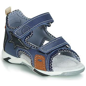 Shoes Boy Sandals Citrouille et Compagnie JATILEME Blue / Clear
