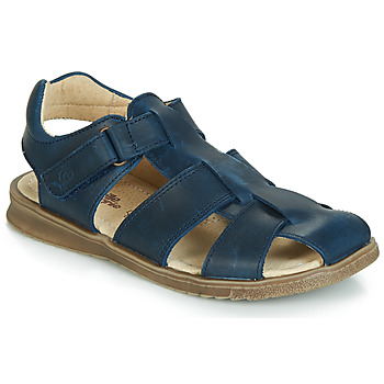 Shoes Boy Sandals Citrouille et Compagnie JALIDOU Blue / Dark