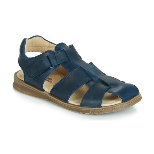 Shoes Boy Sandals Citrouille et Compagnie JALIDOU Blue / Dark