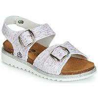 Shoes Girl Sandals Citrouille et Compagnie JANETTA White / Violet