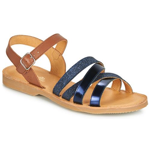 Shoes Girl Sandals Citrouille et Compagnie JOLICOTE Marine / Camel