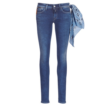 material Women Skinny jeans Replay LUZ ZIP Blue / 009