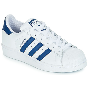 Shoes Children Low top trainers adidas Originals SUPERSTAR J White / Blue