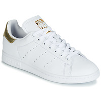 Shoes Women Low top trainers adidas Originals STAN SMITH W White / Gold