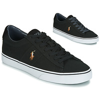 Shoes Men Low top trainers Polo Ralph Lauren SAYER Black