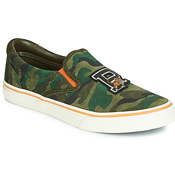 Shoes Men Slip ons Polo Ralph Lauren THOMPSON Kaki / Camouflage