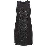 material Women Short Dresses Lauren Ralph Lauren SEQUINED SLEEVELESS DRESS Black