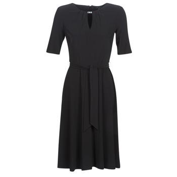 material Women Short Dresses Lauren Ralph Lauren 3/4 SLEEVE  JERSEY DAY DRESS Black