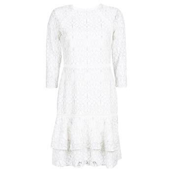 material Women Short Dresses Lauren Ralph Lauren LONG SLEEVE-LACE DAY DRESS White / Black