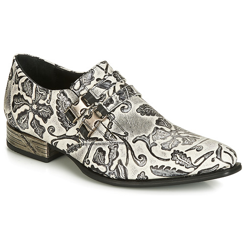Shoes Men Brogue shoes New Rock SALSO Black / White