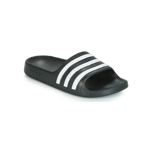 Shoes Children Sliders adidas Performance ADILETTE AQUA K Black / White