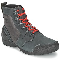 Shoes Men Mid boots Sorel ANKENY MID HIKER RIPSTOP Black / Grey