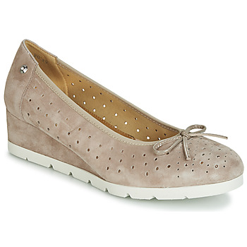 Shoes Women Ballerinas Stonefly MILLY 2 GOAT SUEDE Beige