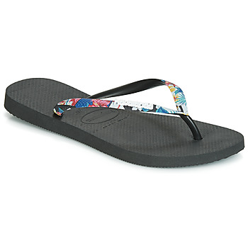 Shoes Women Flip flops Havaianas SLIM STRAPPED Black
