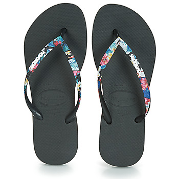 Shoes Women Flip flops Havaianas SLIM STRAPPED Black