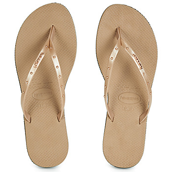 Shoes Women Flip flops Havaianas YOU MAXI Pink / Gold