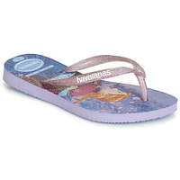Shoes Girl Flip flops Havaianas KIDS SLIM FROZEN Violet