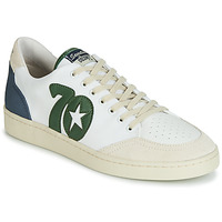 Shoes Men Low top trainers Kost SEVENTIES 14 Ecru / Green / Blue