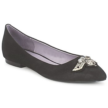 Shoes Women Ballerinas Couleur Pourpre TIMEA Black