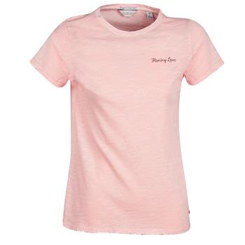 material Women short-sleeved t-shirts Maison Scotch SS T-SHIRT Pink